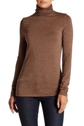 14Th And Union Essential Turtleneck Blouse Petite Brown