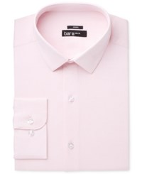 Bar Iii Men's Slim Fit Stretch Max Blue Basket Dress Shirt Only At Macy's Pink