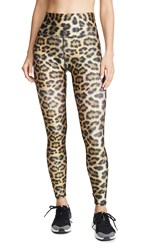 Terez High Rise Leggings Leopard Goals
