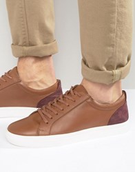 Kg By Kurt Geiger Lo Trainers In Tan Leather Tan