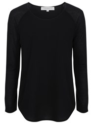 French Connection Classic Polly Long Sleeve T Shirt Black