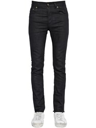 Saint Laurent 15Cm Raw Cut Stretch Cotton Denim Jeans
