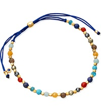 Astley Clarke Rainbow 18Ct Yellow Gold Plated And Gemstone Skinny Biography Bracelet