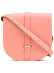 The Cambridge Satchel Company Buckled Cross Body Bag Women Calf Leather One Size Pink Purple