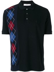 Pringle Of Scotland Argyle Polo Shirt Black