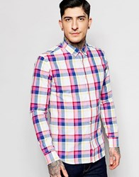 Farah Shirt In Madras Check In Red Slim Fit Azealia
