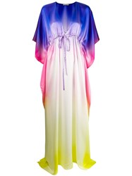 Amen Gradient Effect Dress Yellow