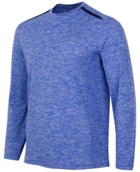 Greg Norman For Tasso Elba Men's Long Sleeve Performance Shirt Cobalt Glaze