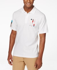 Lrg Men's Big And Tall Paddle Team Graphic Print Polo White