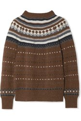 Re Done 50S Fair Isle Knitted Sweater Brown