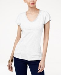 Inc International Concepts Cotton V Neck T Shirt Only At Macy's Bright White