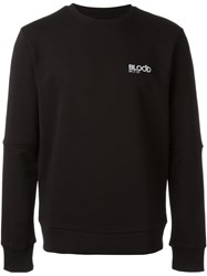 Blood Brother Embroidered Logo Sweater Black
