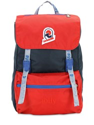 Invicta Mini Jolly Vintage Effect Nylon Backpack Red