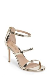 Charles By Charles David Women's Ria Strappy Sandal Gold Leather