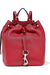 Rebecca Minkoff Woman Blythe Studded Pebbled Leather Backpack Claret