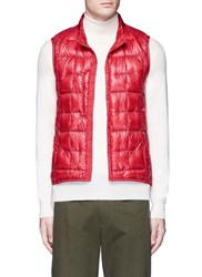 Burton Packable Down Puffer Vest Red