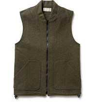 Filson Mackinaw Wool Gilet Green
