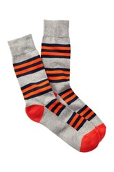 1901 Striped Cushioned Sole Over The Calf Socks Multi