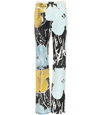 Calvin Klein 205W39nyc Flowers High Waisted Jeans Multicoloured
