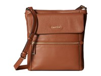 Calvin Klein Classic Pebble Pebble Crossbody Luggage Cross Body Handbags Brown