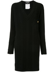 Chanel Vintage Long Sleeve One Piece Dress Black