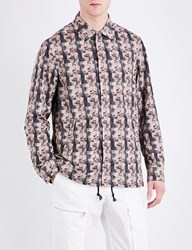 Undercover Distorted Face Print Shell Jacket Beige Base