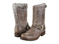 Frye Veronica Shortie Slate Burnished Antiques Leather Cowboy Boots Gray