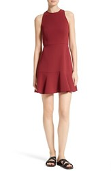 Theory Women's Felicitina Fit And Flare Dress Cherry Classic White