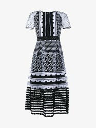 Jonathan Simkhai Bubble Embroidered Dress Black White