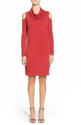 Women's Dknyc Cold Shoulder Cowl Neck Jersey Dress