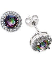 Giani Bernini Mystic Topaz 1 5 8 C.T. T.W. And Cubic Zirconia Stud Earrings In Sterling Silver Only At Macy's
