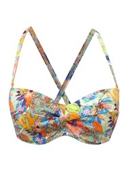 Freya Island Girl Multiway Twist Bandeau Bikini Top Multi Coloured Multi Coloured