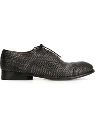 Silvano Sassetti Woven Derby Shoes Black