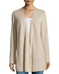 Minnie Rose Cashmere Open Front Duster Cardigan French Tau