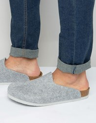 Birkenstocks Amsterdam Felt Slippers Grey
