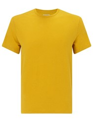 John Lewis And Co. Vintage Hemp Cotton T Shirt Yellow