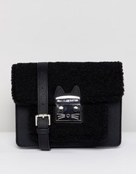 Paul And Joe Sister Shearling Cross Body Bag Black