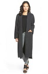 Petite Women's Eileen Fisher Kimono Sleeve Long Boiled Wool Coat