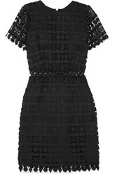 Michael Michael Kors Guipure Lace Mini Dress Black Gbp