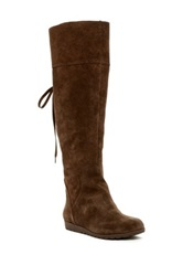 Nine West Daring Faux Fur Lined Suede Boot Brown