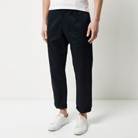 River Island Mens Navy Wide Leg Trousers
