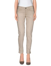 S.O.S By Orza Studio Denim Denim Trousers Women Beige