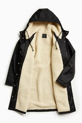 Urban Outfitters Uo Sherpa Lined Sideline Parka Jacket Black