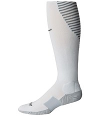 Nike Matchfit Over The Calf Team Socks Pure Platinum Cool Grey Black Knee High Socks Shoes White