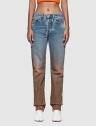 Off White Degrade Two Tone Jeans Blue