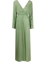 Forte Forte Velvet Empire Line Dress Green