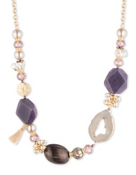 Lonna And Lilly Purple Bead Statement Necklace