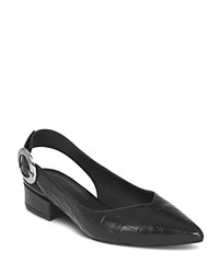 Whistles Women's Cora Embossed Leather Slingback Pumps Black