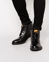 Original Penguin Lace Up Zip Boots Black