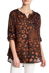 Casual Studio Animal Printed Silk Blouse Brown